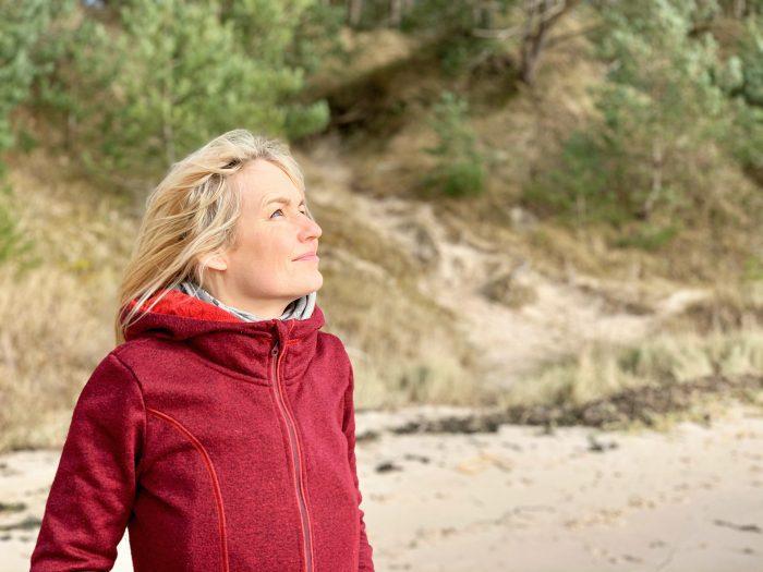 Maria am Strand: Werte und Haltung im Business